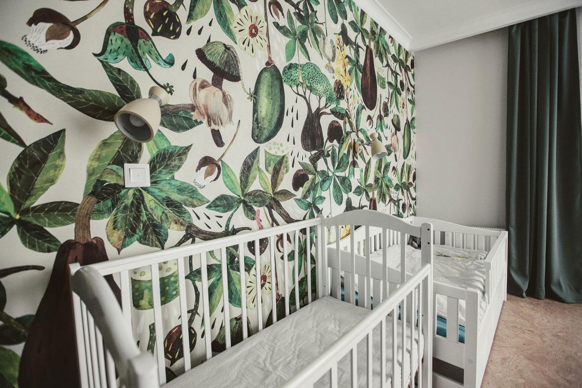 Детская с джунглями на стенах