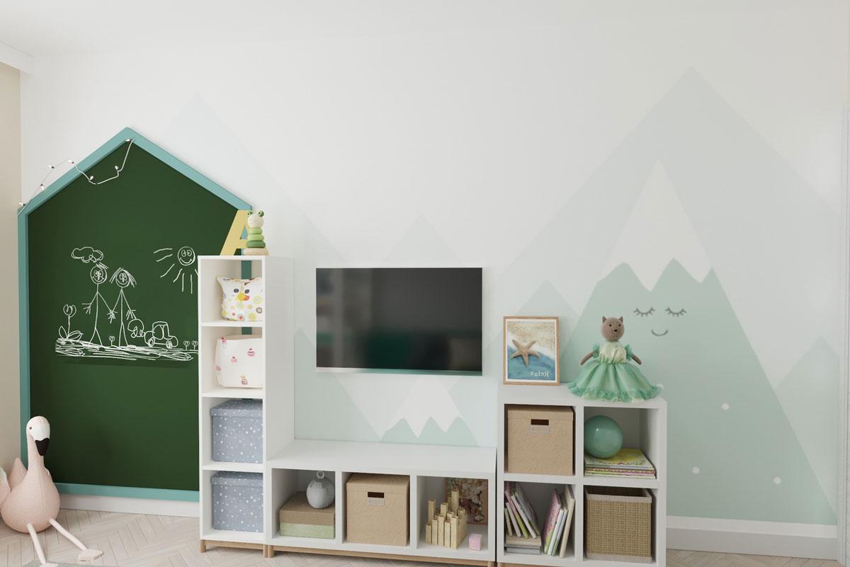 Детская с росписью стен