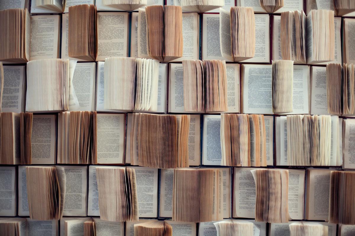 Много открытых книг