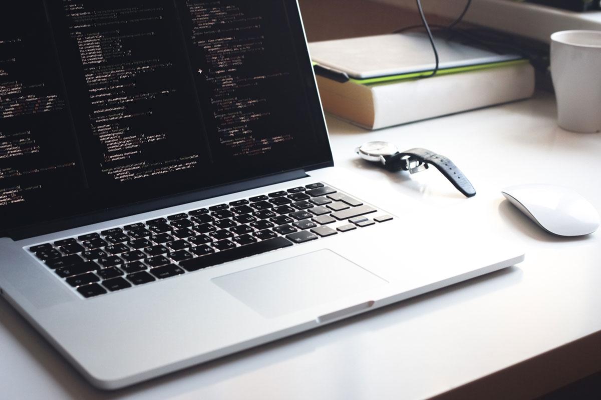 Программный код на ноутбуке