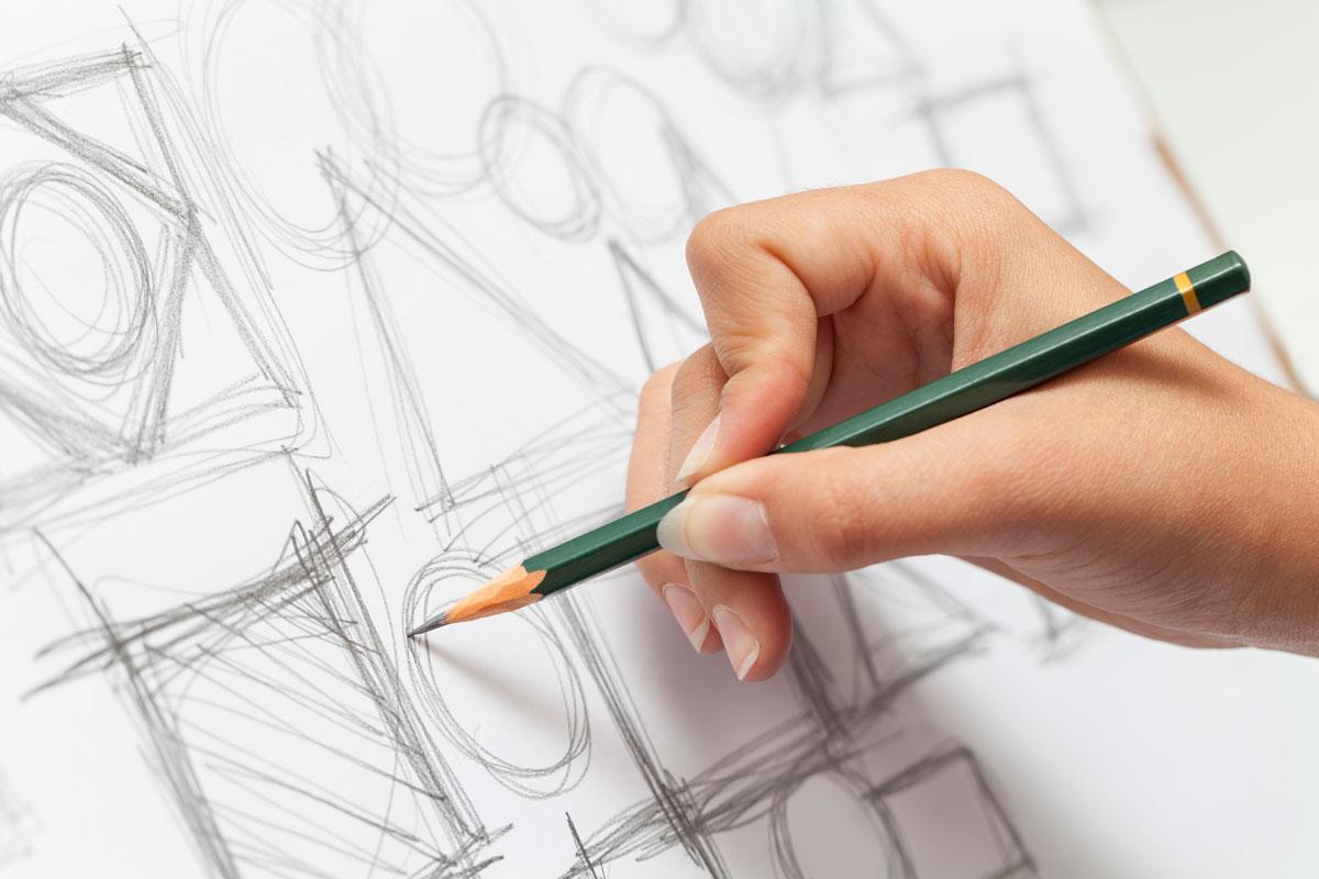 Лёгкий рисунок карандашом