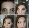 Smoky eyes в синих тонах
