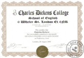 26.06.2005-26.08.2005 Charles Dickens College, Proficiency Level, London