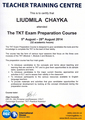 Сертификат TKT Exam Preparation Course