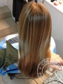 Highlights and toning by Matrix, line cutting