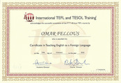 Сертификат TEFL and TESOL