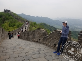 day off on the Great Wall while teaching in China