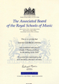 Сертификат The Associated Board of the Royal Schools of Music