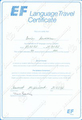 Language Travel Certificate