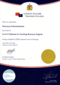 Diploma in Teaching Business English, London Teacher Training College