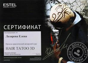 Автороский семинар Рустама Данильчука по Hair Tattoo