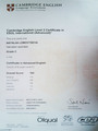 Cambridge Certificate. Advanced Level