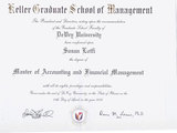 Диплом Master of Accounting and Financial Management