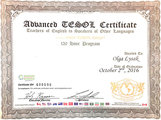 Сертификат Advanced TESOL
