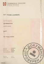 Сертификат TKT: Young Learners