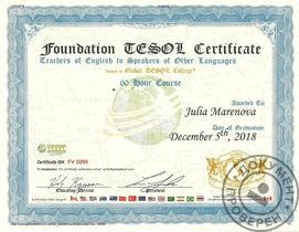 Foundation TESOL Certificate