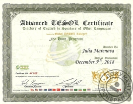 Advanced TESOL Certificate