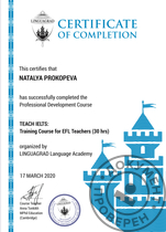 TEACH IELTS Training Course for EFL Teachers