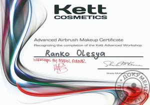 Kett Cosmetics Advanced Airbrash Makeup Certificate Workshop by Mykel Renner