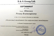 Сертификат B&G Group Ltd
