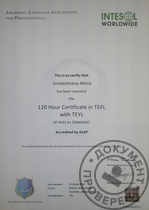 150 Hour certificate in TEFL with TEYL