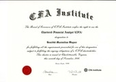 Cerificate of CFA Institute