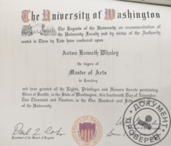 University of Washington, College of Education Faculty of English, Master of Arts in Teaching, 2017–2019 гг.