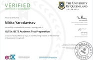 Сертификат IELTS Academic Test Preparation